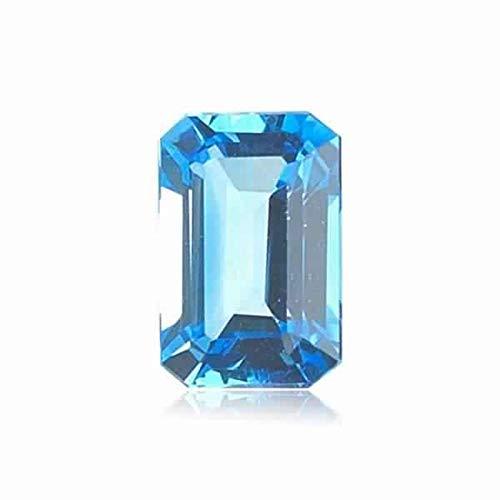 Mysticdrop 1.60-2.30 Cts of 8x6 mm AAA Emerald Cut Swiss Blue Topaz (1 pc) Loose Gemstone