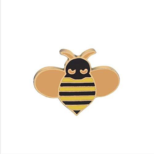 Kissherely 1 Stück Niedlichen Welpen Kätzchen Brosche Schöne Tiere Emaille Abzeichen Pin Kleidung Rucksack Zubehör Geschenk (Biene)