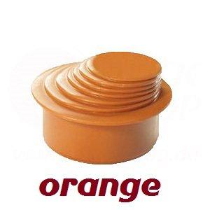 HT KG Rohr Reduzierverbinder Mehrstufig Ø 63-100 mm orange Reduktion Ø 110 DN 100 Reduzierstück Übergang Rinnenfallrohr Minderer