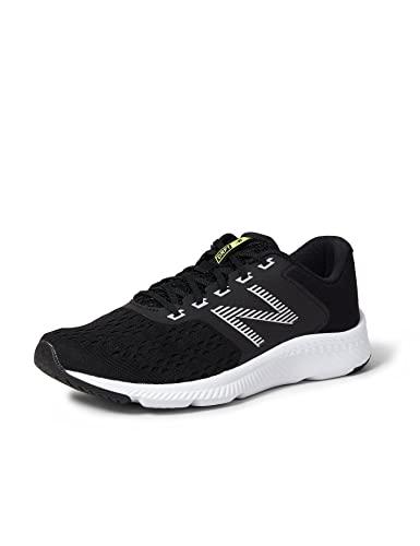 New Balance 411 Sneakers, Zapatillas de Correr Mujer, Negro (Black/White), 39 EU