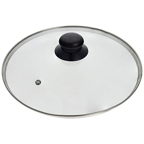 Smartfox Glasdeckel mit Edelstahlrand Edelstahlring und Entlüftungsloch Topfdeckel Pfannendeckel Ø 28cm