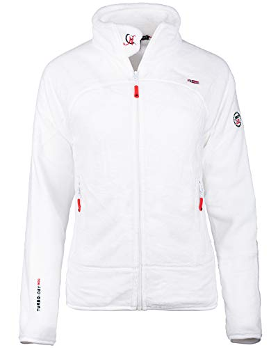 Geographical Norway Bans Production - Chaqueta de forro polar para mujer Blanco M