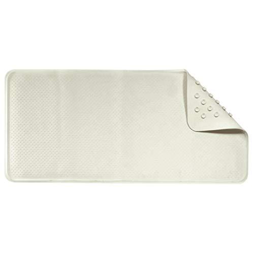 Croydex - Alfombra de látex de goma Rubagrip para la bañera (34 x 74cm) (Blanco)