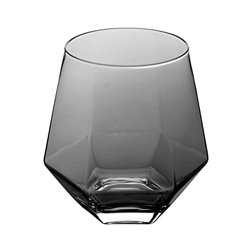 Juego de 2 vasos de 11 oz para agua, leche, zumo, cerveza, whisky, vino I vasos de 11 oz – Juego de 2 (color: gris)