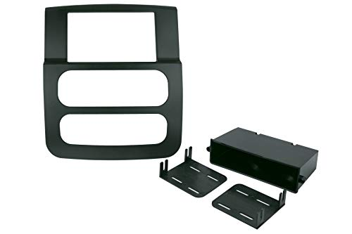Scosche CR1299DDB Compatible with 2002-05 Dodge Ram ISO Double Din Dash Kit Black