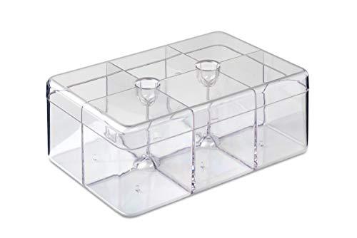 Rosti Mepal 106815053100 Boîte à Thé Rectangulaire, san, Transparent, 21,7 x 14,8 x 8,5 cm