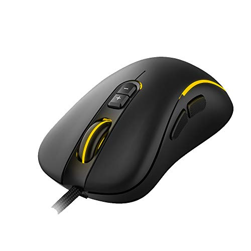 Ant Esports GM270W Optical Wired Gaming Mouse with 7 Programmable Buttons and 3200 Adjustable DPI – Black