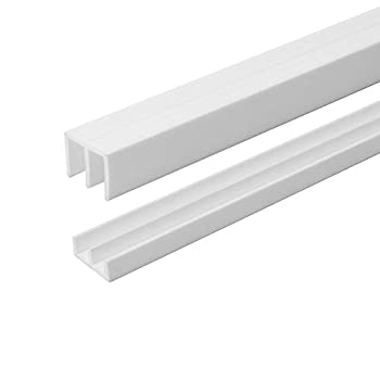 4 Ft Long White Plastic Sliding Door Track Set for 1/4  Thick Panels  Pack of 1  by Outwater Plastics
