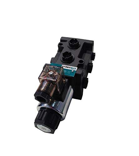 Hydromot- Magnetventil, 6/2 Wegeventil mit 60 Liter/min Durchflussmenge. Anschlüsse 1/2 Zoll, Maximaler Betriebsdruck 250 bar. Ventilspannung 12V