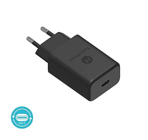 Motorola Original- TurboPower 27W Cargador PD con 1m (3.3ft) USB-C a USB-C datos / cable de carga en Retail Box con etiqueta de autenticación Motorola y Guía del usuario