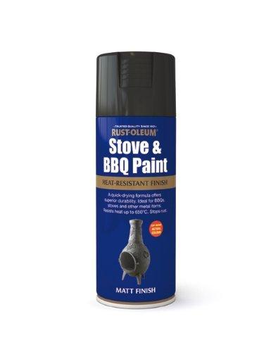 2x400ml Stove & BBQ Paint Black
