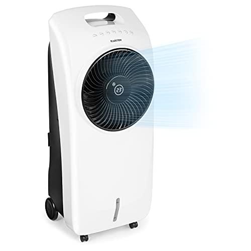 KLARSTEIN Rotator - Enfriador de Aire, Ventilador, Ionizador, Humidificador, 110 W, Cool Breeze, 3 velocidades, 3 Modos, Temporizador 8 h, Depósito de Agua de 7 L, Mando a Distancia, Blanco Floral