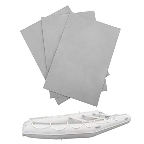 Parches para Piscinas, Parches para Brincolines Inflables, Kit de Reparación de Bote Inflable, Parche de Kayak Inflable, Parche de Reparación de PVC para Reparar Balsa Inflable, Juguete (Gris)