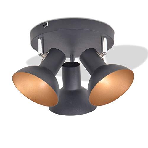 vidaXL Deckenleuchte für 3 Glühbirnen Deckenlampe Deckenspot Deckenstrahler