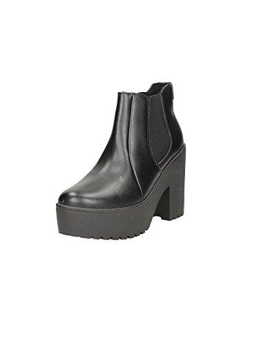 Guess Scarpe Donna Sneaker Zeppa Mod FARABELLA Beatles Vitello Nero D15GU32