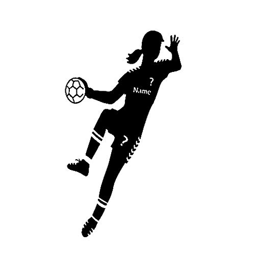 Smntt Wall Sticker Tapete Sport-Handball-Spieler Tapete Mädchen Schlafzimmer-Plakat Mit Dem Namen Wall Wall Sticker 57 * 120cm 1