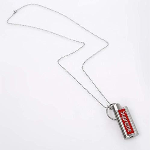 L&H Herren Anhänger Halskette Supreme 19SS Metall FeuerzeugHolster Feuerzeug Shell Keychain Modeschmuck Geschenk