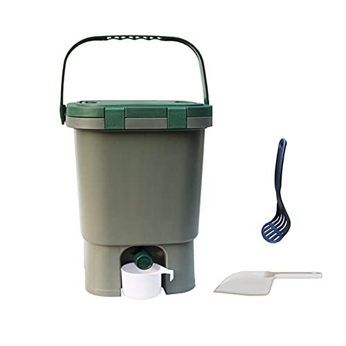 Contenedor De Compost De Desechos De Cocina De 15L De Capacidad, Contenedor De Compost De...