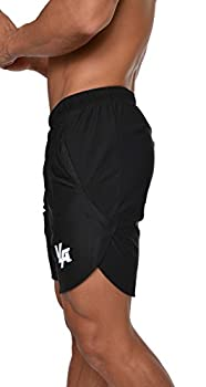 YoungLA Men s Running Shorts Athletic Gym Jogging Workout Powerlifting with Front Pockets 104 Black Large