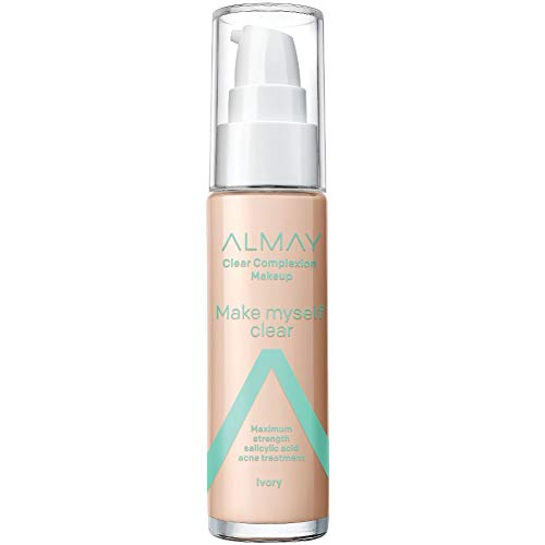 Price comparison product image Almay Clear Complexion Makeup,  Hypoallergenic,  Cruelty Free,  Fragrance Free,  Dermatologist Tested Foundation,  with Salicylic Acid,  1oz