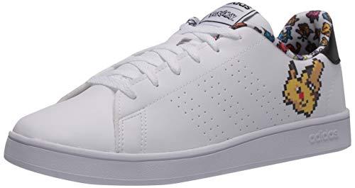 adidas Kids Unisex's Advantage Tennis Shoe, FTWR White/FTWR White/core Black, 5.5 M US Little Kid