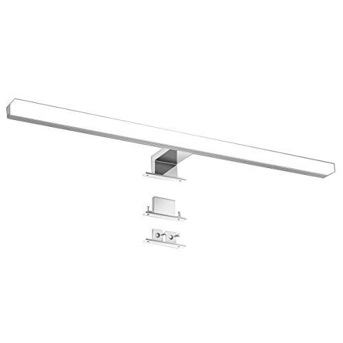 KINGSO LED Spiegelleuchte 12W 60cm IP44 LED Spiegellampe aus Acryl Neutralweiß Spiegellicht Led Schminklicht Schrank-Beleuchtung 4000K 800LM 230V