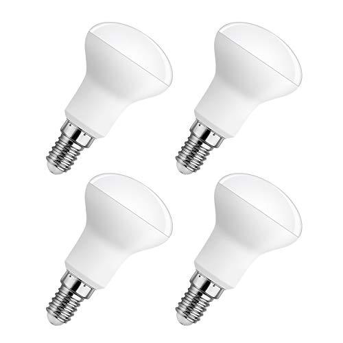R50 E14 LED-Strahler Dimmbar Warmweiß 2700K, 500LM, 5W Ersatz Reflektorlampen R50 40W, 120° Abstrahlwinkel, AC 220V, Reflektor E14 Klein Lampe Dimmbar für Deckenlampe/Küchenlampe, 4er-Set