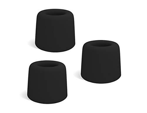LouMaxx Türstopper Boden Schrauben aus Gummi - 3er Set in schwarz - Türstopper Gummi - Gummistopper - Türstopper Bodenmontage - Der Perfekte Schutz gegen anschlagende Türen