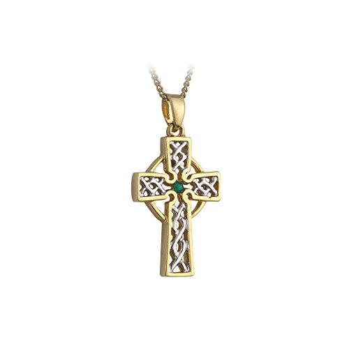 Tara Filigree Celtic Cross Necklace Silver & Gold Plated Irish Made