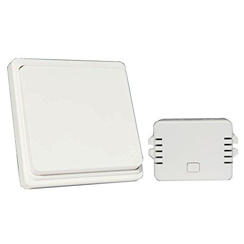 Interruptor de pared inalámbrico Kit ,WGOAL Sin batería, Sin cables impermeable interruptor...