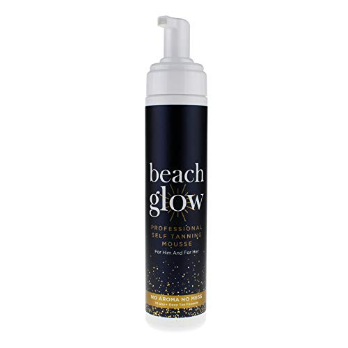 Beach Glow Fake Tan, Self Tan Professional Tanning Mousse, Self Tanning Invisible Foam, 250ml