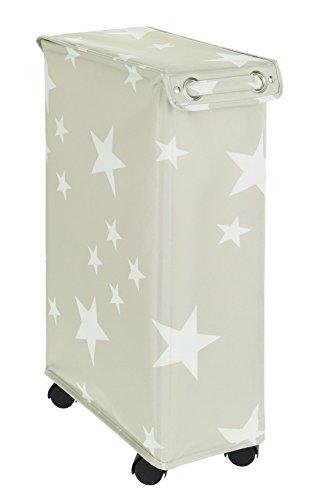 Wenko Corno Stella Cubo de lavandería Cesto con Tapa Capacidad 43L, poliéster, 40x 18x 60cm