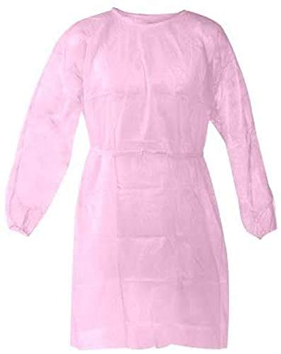 Nobles Disposable Isolation Gown Size: Universal Qty: 50 per Case (Pink)