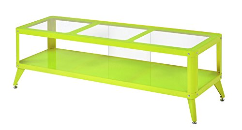 HOMES: Inside + Out Essor Metal TV Stand, 60', Apple Green