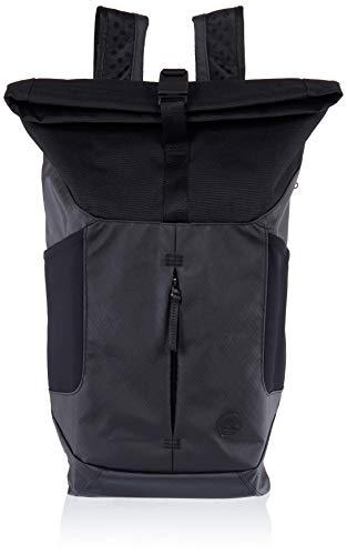 Timberland Mens Roll Top Backpack Black (Black)