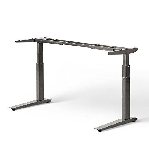 Jarvis - Soporte eléctrico de pie para escritorio, altura regulable para trabajar de pie o sentado, rango extendido de tres niveles con controlador de memoria predefinida - tablero no incluido