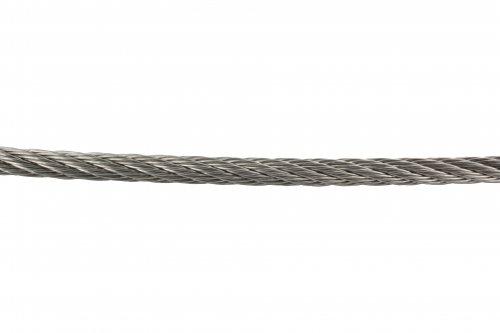 Edelstahl-Seil ø 4mm, flexibel 7x7, Länge 15m