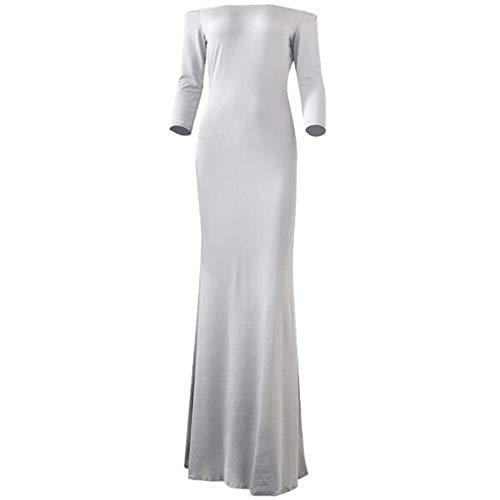 yanghuakeshangmaoyouxiangong Frauenkleidung Kleid Trägerlos Ärmel Einfarbig Hohe Taille Langes Kleid