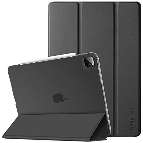 EasyAcc Cover Custodia Compatibile con iPad Pro 12.9 2020/2021(4.Generazione/5.Generazione), Custodia Smart Cover Posteriore Opaca Traslucida per iPad Pro 12.9 2020/2021, Nero