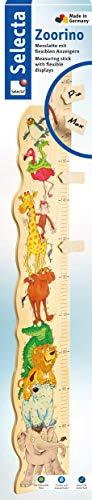 Selecta 60000 Zoorino, toise de mesure pour enfants, en bois