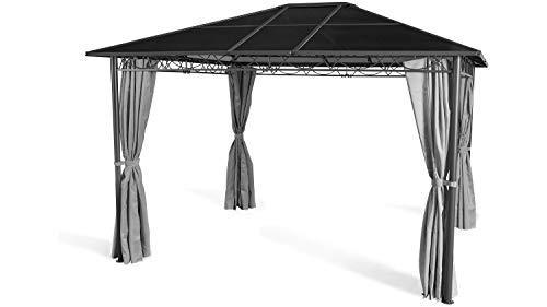 GRASEKAMP Qualität seit 1972 Hardtop Pavillon Meran 3x3,6m mit Seitenteile Doppelstegplatten Hohlkammer Polycarbonat