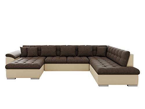 Eckcouch Ecksofa Niko! Design Sofa Couch! mit Schlaffunktion! U-Sofa Große Farbauswahl! Wohnlandschaft! (Ecksofa Links, Soft 018 + Lux 12)