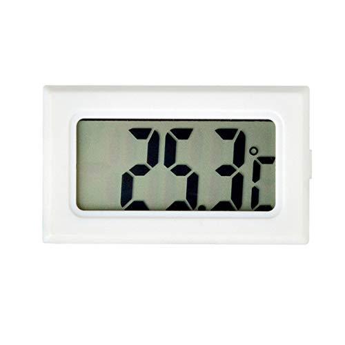 Urijk LCD Digital Hygrometer Thermometer (℃), Mini Digital Temperaturmesser für Gewächshaus/Autos/Zuhause/Büro/Keller Schrank (Weiß)