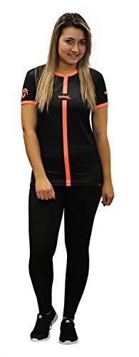 Softee T-Shirt pour Femme M Black/Coral