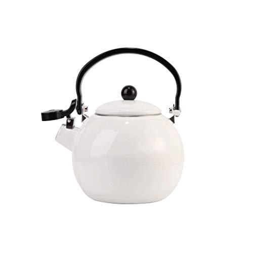 HJJ Edelstahlkessel/Weiß Emailkessel Whistle Topf Haushalt offenes Feuer im Freien Kessel Teekanne Universal-Kessel mit großer Kapazität Haushalt 1.4L /Haushalt Whistle Kessel