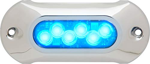 attwood 66UW06B-7 Lightarmor Ultra-Bright 6-LED HPX 2,750 Lumen Underwater Light, Sapphire Blue