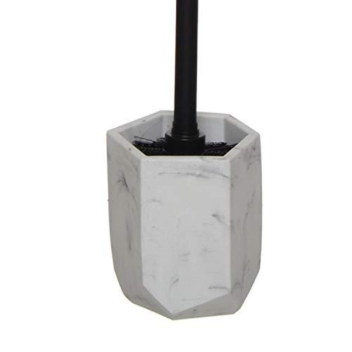 Vidal Regalos Escobillero WC Resina Efecto Marmol 35 cm Blanco