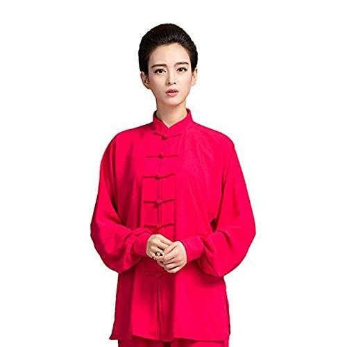 Traje De Artes Marciales para Mujer Uniforme De Tai Chi Ropa De Kung Fu Chino Ropa De Wing Chun Conjuntos De Gasa Tradicional Shaolin Trajes De Yoga De TaekwondoA-Small