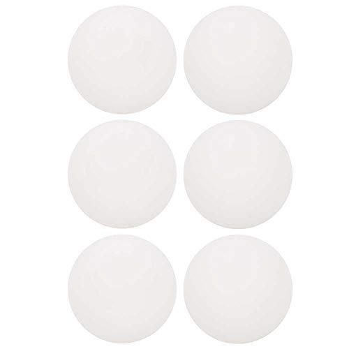 RiToEasysports Paquete de 6 Pelotas de Tenis de Mesa, Pelotas de Ping Pong para Entretenimiento de Entrenamiento de competición(Blanco)