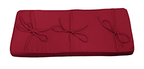 Burgundy Red Piano Bench Cushion 14' x 30' - Extra Thick Bench Pad